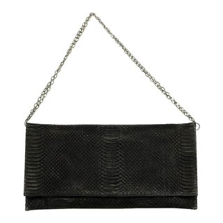 Monica Evening Bag / Monique Evening Bag / Full Leather Embossed / Hand Limited / Black