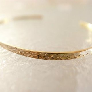 K18 karat gold handmade bangle for Men