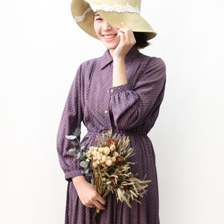 【RE0503D1165】 retro elegant purple geometric spring and summer ancient dress