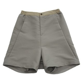 Drop-crotch Dimensional-cut Wide-leg Shorts