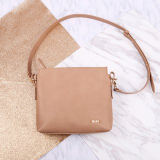 Petite Brown Color PU / Faux Leather Shoulder Bag