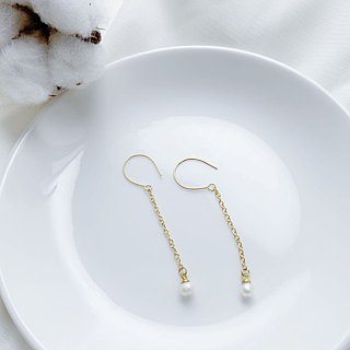 SL291 Light you up Simple freshwater pearl earrings (can change folder)