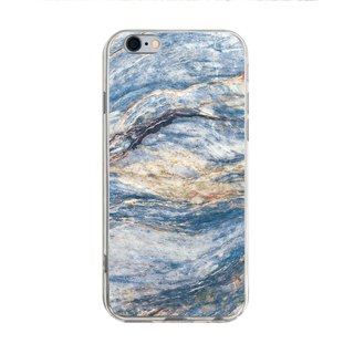 Light blue marble pattern - iPhone X 8 7 6s Plus 5s Samsung S7 S8 S9 mobile phone case