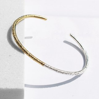 925 Silver Two-Tone Bangle | 24K Gold
