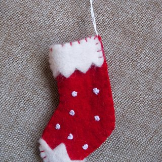 【Grooving the beats】Handmade Felt Hanging Christmas Ornament, Christmas Party Favors, Christmas Stocking, Xmas Tree Decorations, Ornament Figurine Sock Fabric, Hanging Decorations(Sock)