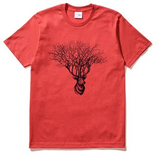 Deer Tree (spot) short-sleeved T-shirt red deer tree elk design Wenqing own brand animals