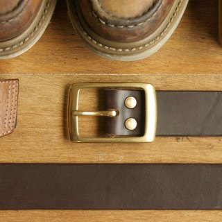 Leather Belt ( Custom Name ) - Dark Coffee