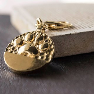 Q cake embossed series 18K gold - pet handmade tag - embossed foot
