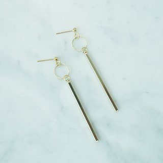 Geometric Vertical Bar Earring
