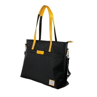 AMINAH-Yellow lightweight shoulder tote bag [am-0306]