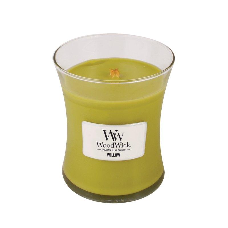 【VIVAWANG】 WoodWick香氛中杯蠟 柳樹橡苔