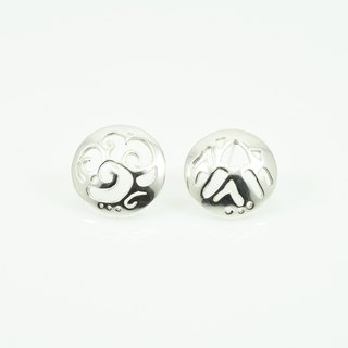 Handmade silver earrings series - mountain and sea