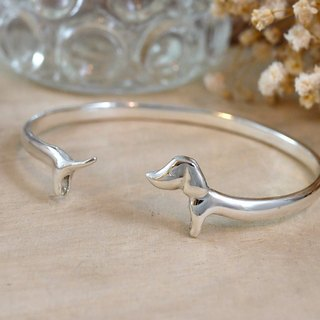 [Jewelry] Jin Xialin ‧ chasing tail sausage bracelet - silver shiny creamy version
