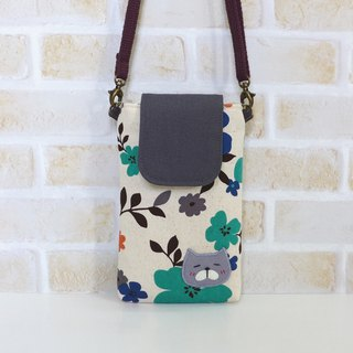 丫喵Mobile phone bag - color extension flower (with strap)