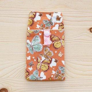 Butterfly flying pocket pencil bag / document bag