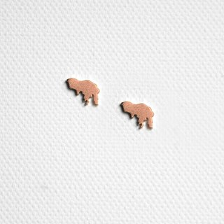 #islandpride 14K Matte Rose Gold Minimalistic ❖ Hong Kong ❖ Earring by izola.co