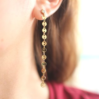 The river- Brass earrings