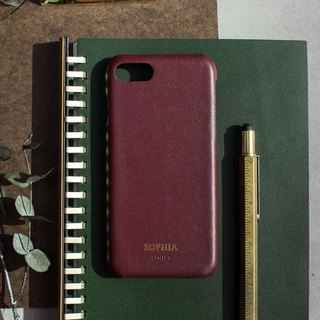 Can be lettering iPhone 7/8 4.7 吋 leather water-proof mobile phone case - wine red