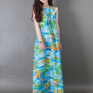 Banana cat. Banana Cats Hawaiian Slim Sushi Flower Blue Sleeveless Dress