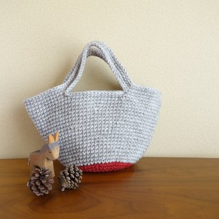 yuoworks / Mini marche bag / bottom-red / wool
