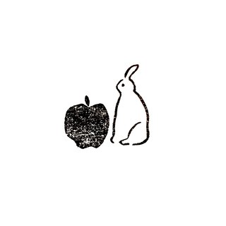 Rabbit and apple