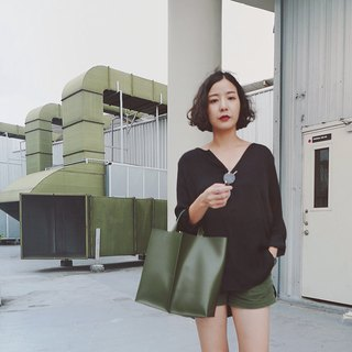 New! Signature tote II by WHITEOAKFACTORY Olive green