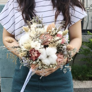 Exclusive order Ri Tsan 【Nice flower】 Sun rose Bridal bouquet Dry bouquet Wedding bouquet Valentine's Day flower bouquet with a flower