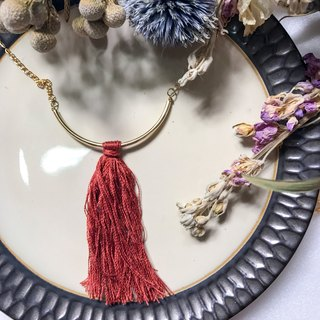 [Da Da Daily] Bohemia red tassel necklace