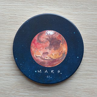 Astronomical series coasters. {Mars} ceramic coasters