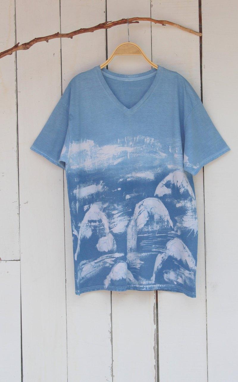 自在染isvara 手工藍染 共生系列 山神 純棉T-shirt