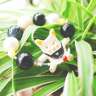 Cute skipping cat clay hand made beaded bracelet bracelet