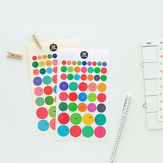 Somsom Geometric Sticker Set - Round, LWK37422