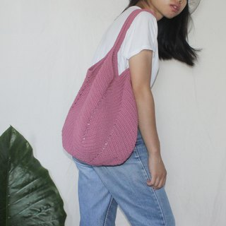 Dark Moderate Pink Tote bag ,Market bag ,Crochet bag ,Shopping bag