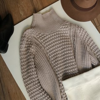 100% light beige hand-knit sweater (optional other colors)