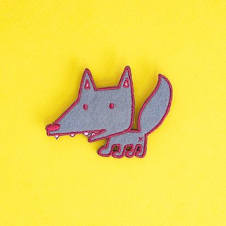 Embroidered Pins - Wolf