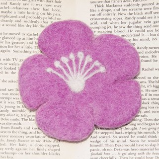 Valentine's Day Gifts National Wind Forest Christmas Gifts Wool Felt Coasters Water Cup Coasters - Japanese Cherry Blossoms