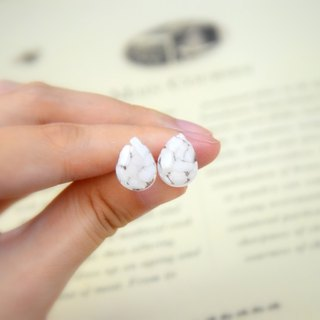 <Petite Gems of the Enchanted Forest Series> Snow Fairy Handmade Ear Studs