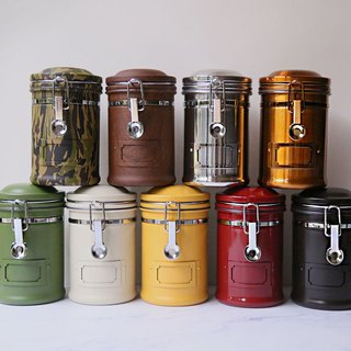 Earth Taiwan 304 stainless steel sealed cans, coffee beans, tea cans, fresh-keeping cans