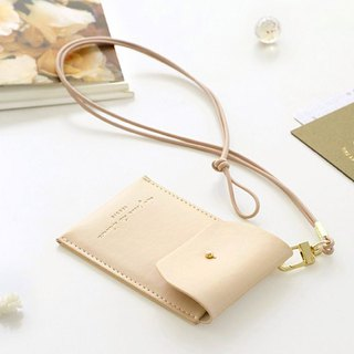 ICONIC Staff Necklace ID Card Holder (with lanyard) - Quiet Camel, ICO52415