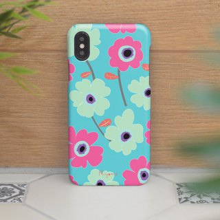 iphone case blue and pink flowers for iphone5s,6s,6s plus, 7,7+, 8, 8+,iphone x