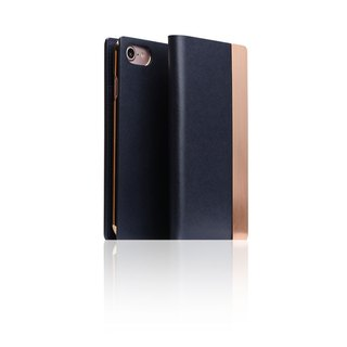 SLG Design iPhone 8 / 7 D5 CSL Metallic Style Side Leather Leather Case - Blue