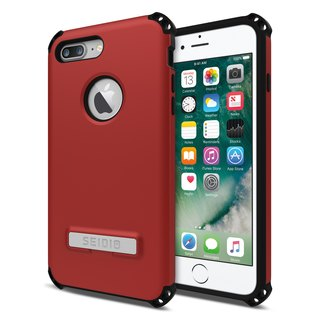Military-grade four-corner crash shell / phone shell for iPhone 7 Plus / 8 Plus-passion red-DILEX series