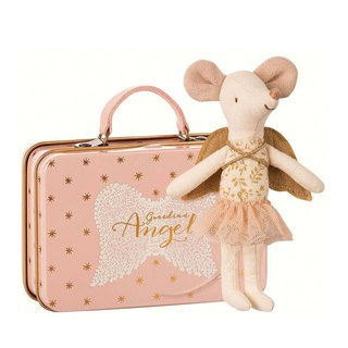 Guardian Angel Big Sister Mouse In Suitcase