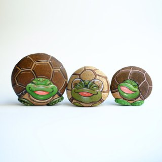 Turtle stone painting,original art.