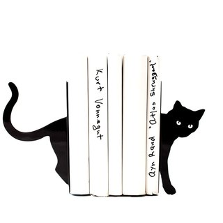 Decorative Bookends Cat and books. Decor modern home.