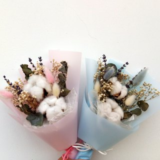 With real flowers||cotton flower flower (small) bouquet hand made dry flower cotton Chinese Valentine's Day