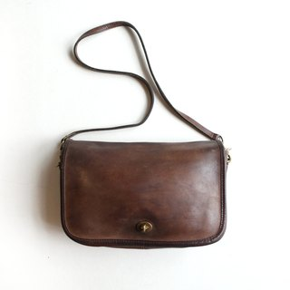 A ROOM MODEL - VINTAGE, BC-2550 COACH Button Party long brown bag