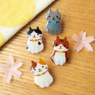 Meow - Cats earrings - standing pose