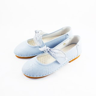 啾啾 bow doll shoes - light blue adult models