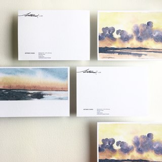 Watercolor (2 in) - Taichung / Highland Wetlands _Set of 2 Postcards-Wetlands / Taiwan